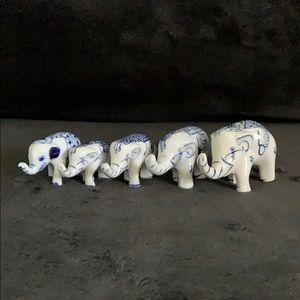 Lot of 5 Elephants